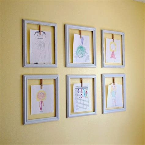 creative ways to display photos without frames creative ways to display your childrens artwork kids