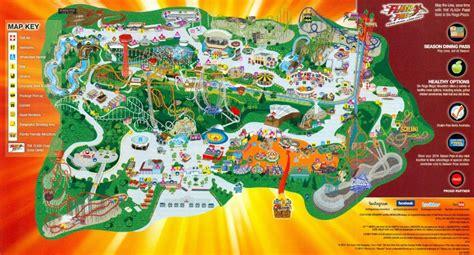 six flags magic mountain map 2014 six flags magic mountain park map guide the