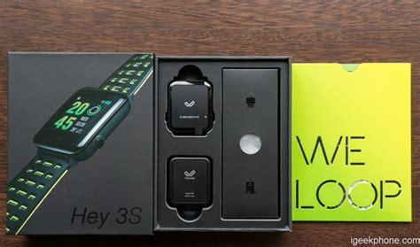 Smartwatch Hey 3s weloop hey 3s sports smart support 50 meters water resistance design features review