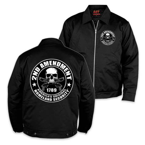 Kaos Expendables 02 second amendment mechanic jacket black budk knives