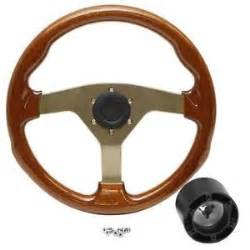 Steering Wheel For Sea Sea 13 3 4 Inch Mahogany Chagne Boat Steering