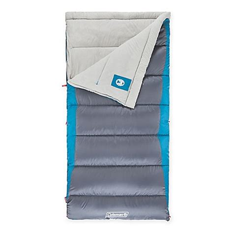 bed bath and beyond sleeping bags coleman 174 autumn glen big tall sleeping bag in blue grey