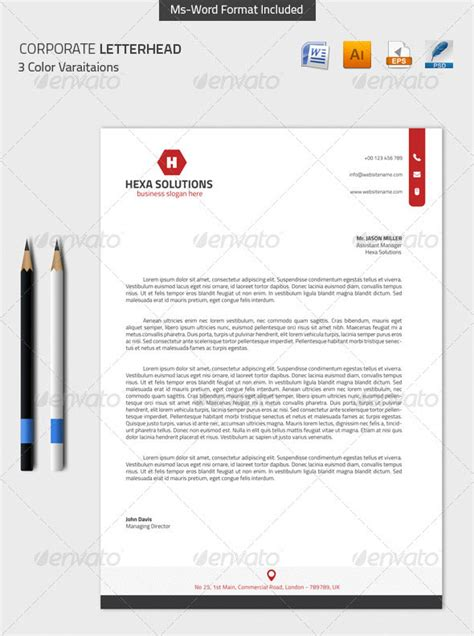 convert your design into a microsoft word letterhead corporate letterhead template word 8 corporate