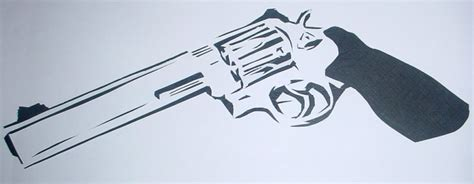 printable gun stencils gun stencil by xxhazziexx on deviantart