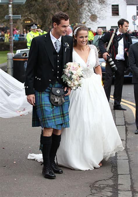 andy murray wedding kim sears stunning wedding dress revealed