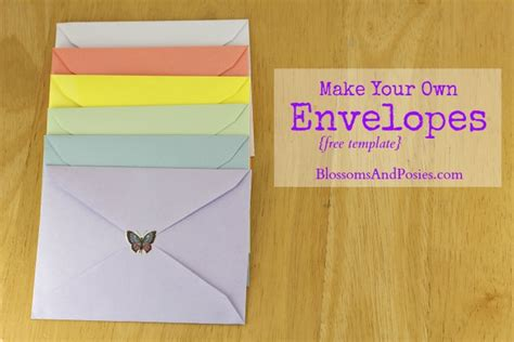 How To Make An Envelope With A Of Paper - make your own envelopes free template
