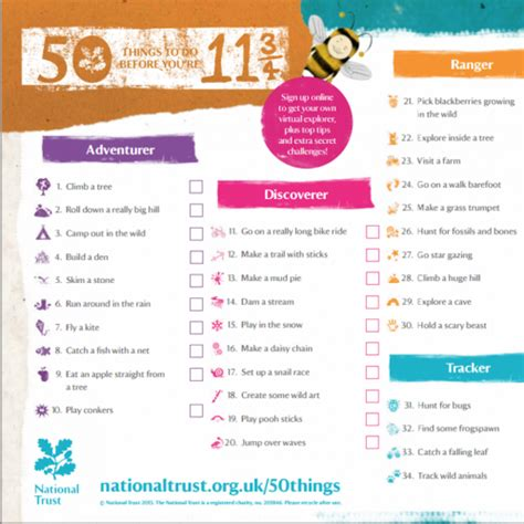 whats free for 50 yrolds 50 things to do before you re 11 3 4 pakeman primary school
