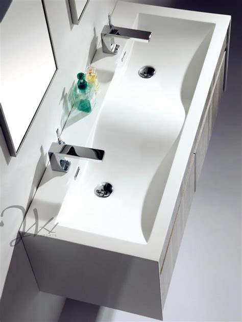 one piece kitchen sink and cabinet featured product of the month flen double sink vanity