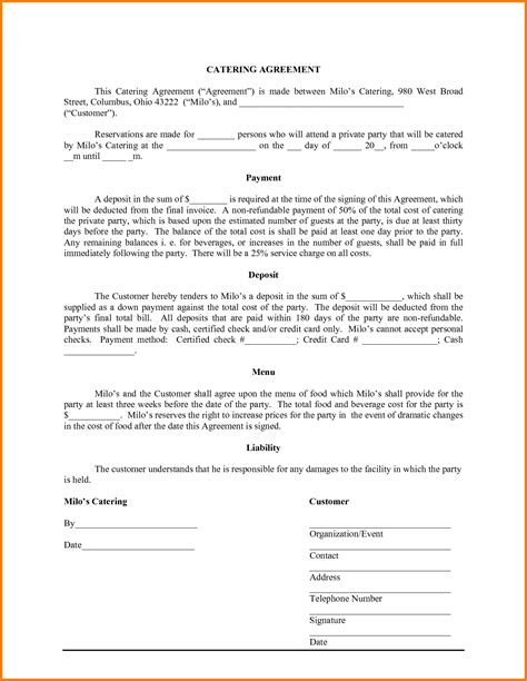 template for a receipt for damages paid in catering invoice template word hardhost info