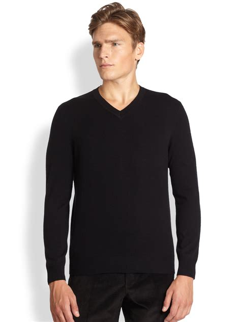 Sweater 5th Nine Vape Co saks fifth avenue v neck sweater in black for