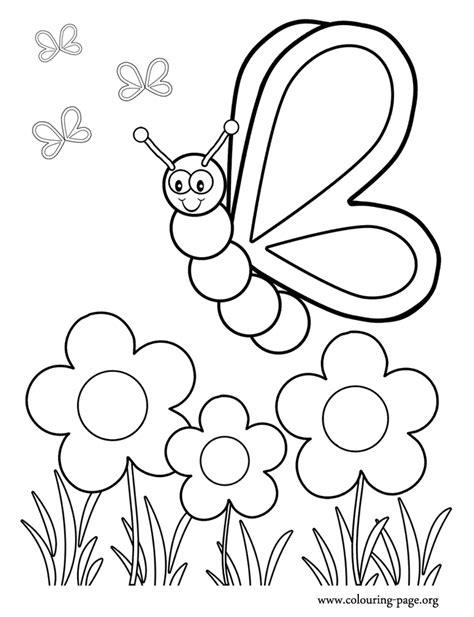 coloring pages of flowers and butterflies coloring pages flowers butterflies coloring home