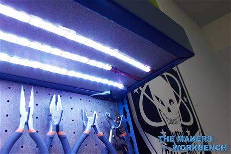 under bench led lighting under bench led lighting rgb led under shelf bench lighting the makers workbench