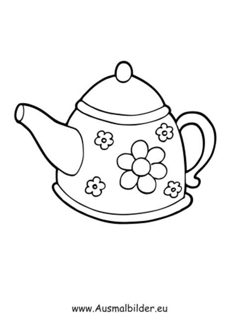 Ausmalbilder Teekanne   Haushaltsgeräte Malvorlagen