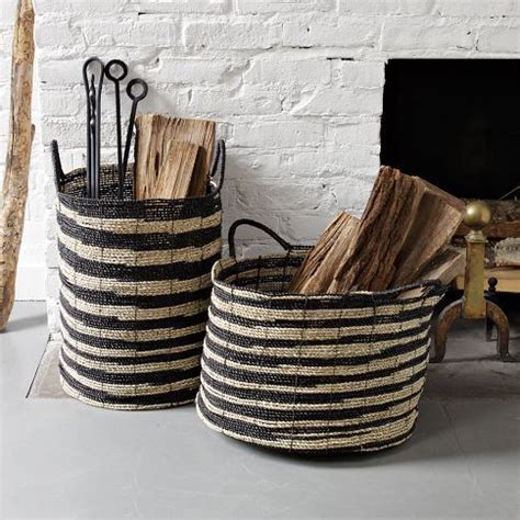 Fireplace Wood Basket by 20 Cozy Basket Storage Ideas For Every Home Shelterness