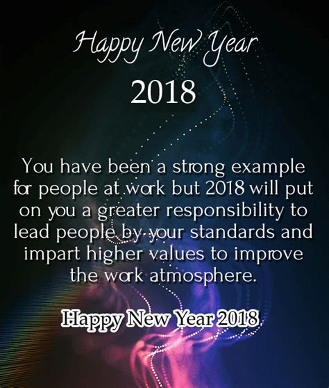 35 happy new year 2018 wishes for boss and colleagues