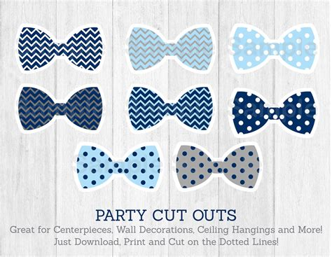 Lil Dot Stripe Cup Black bow tie cut outs baby shower chevron bow
