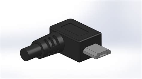 solidworks tutorial usb micro usb right angle connector solidworks step iges