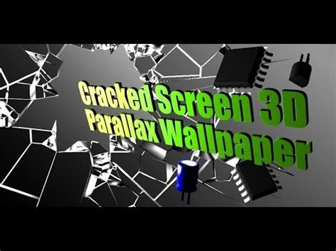 parallax cracked screen  wallpaper  android