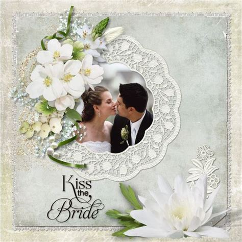 photo layout for wedding wedding scrapbook layouts kiss the bride digital