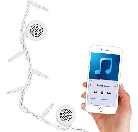string lights with speakers bright tunes decorative string light with bluetooth