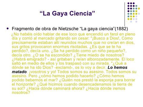 la gaya ciencia 1542387647 presentaci 243 n de nietzsche