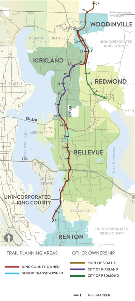 seattle map kirkland another small step to create trail on eastside rail