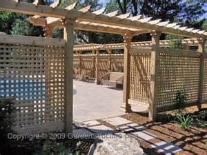Cedar Trellis Panels Needing Some More Privacy Around The Pool Deck Area