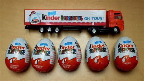 kinder 8 eggs kinder surpise eggs truck 123vid