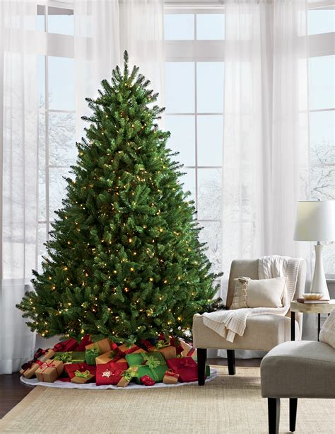 trim a home 7 5 berkshire fir pre lit tree kmart