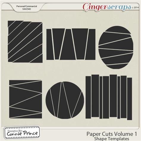 gingerscraps templates paper cuts volume 1 shape