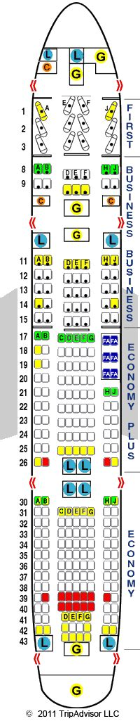 boeing 777 200 seating chart united airlines