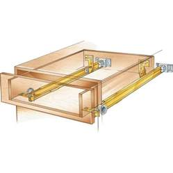 suspension drawer slide pair rockler woodworking and