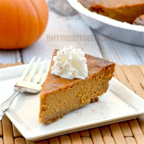 gluten free pumpkin pie recipe happy hour projects