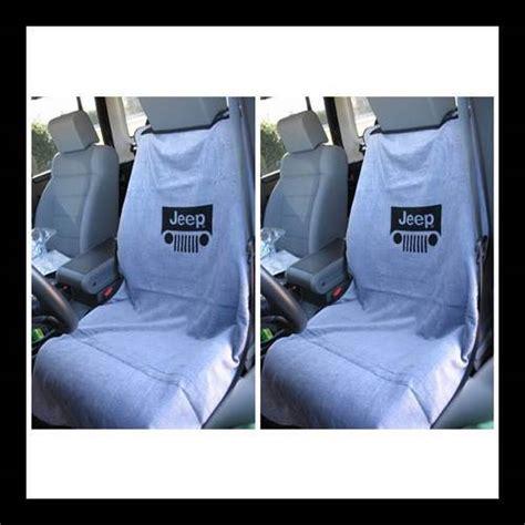 jeep seat towels 100jepggx2 seat towel pair jeep grille logo grey