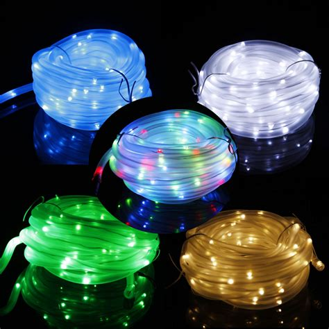Led Solar Rope Lights Outdoor New 50 100 Led Solar Rope String L Yard Outdoor