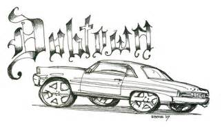Lowrider Cars Drawings Coloring Page Sketch sketch template