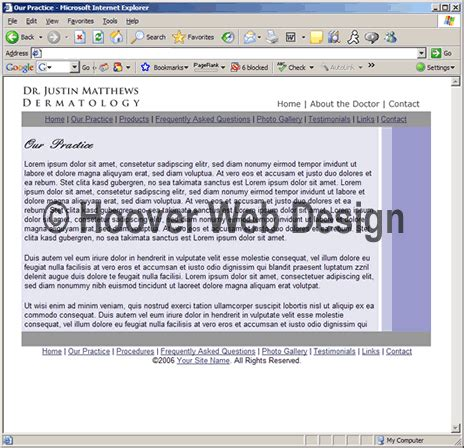 Hoover Web Templates Preview Home1448 Html Web Site Design Templates Dermatologist Website Templates