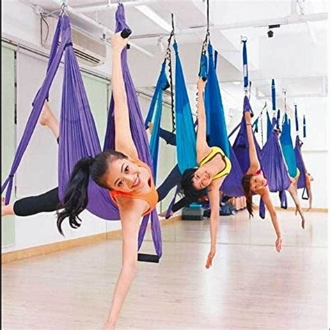 aerial yoga swings amzdeal aerial yoga flying yoga swing trapeze aerial