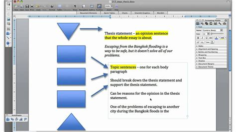 how to create a thesis topic 2 1 3 thesis and topic sentences