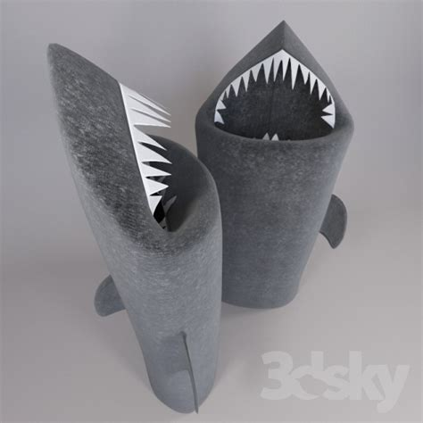3d models bathroom accessories shark toothy laundry