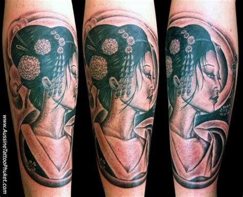 geisha tattoo on dark skin geisha tattoo black grey style tattoo pinterest