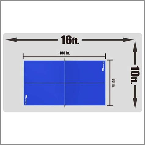 space needed for ping pong table ping pong indoor recreational 4 table tennis