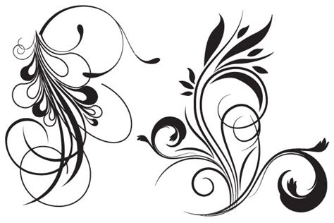 flower tattoo vector free free floral vector download free vector art free vectors