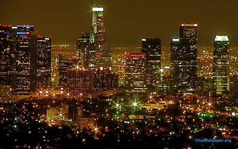 los angeles city lights skyline wallpaper 19 by