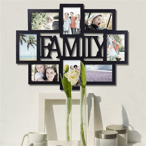 wall hanging collage picture frames adecotrading 8 opening wooden photo collage wall hanging