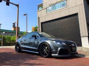 grey audi tt rs gets fitted with satin black hre p101