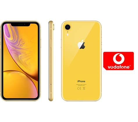buy apple iphone xr pay as you go micro sim card bundle 128 gb yellow free delivery currys