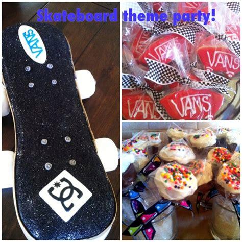 skateboard ideas fun skateboard theme party with skateboard cake sugar