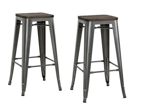 backless metal bar stools dhp furniture fusion 30 quot metal backless bar stool