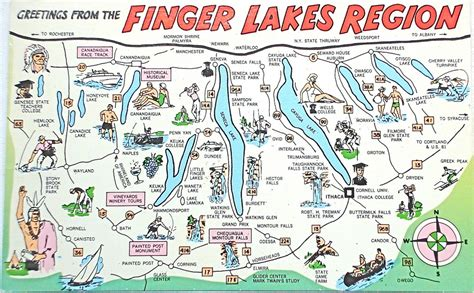 finger lakes ny map finger lakes ny circle the world